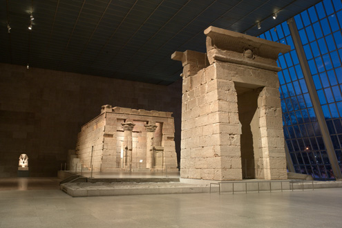 The Temple of Dendur in The Sackler Wing of the Metropolitan Museum. Photo: Courtesy the Metropolitan Museum of Art.